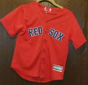 Majestic Red Mookie Betts Boston Red Sox Baseball Jersey Youth Small STITCHED