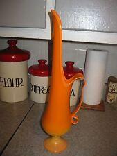 Vintage Orange Slag Glass Candle Holder Fayette
