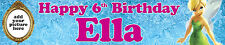 2 x TINKERBELL PERSONALISED PHOTO BIRTHDAY BANNER