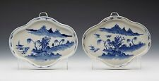 Par antiguo chino Qianlong cena platos 18TH C.