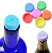 6 Silikon Kronkorken Bier Wein Verschluss Deckel, Flaschenverschluss NEU Korken