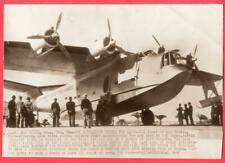 1940 Navy Scouting Force PB2Y Coronado Flying Boat at San Diego News Wirephoto