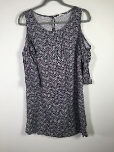 Lily Loves target womens colourful floral dress size 16 cold shoulder sleeves