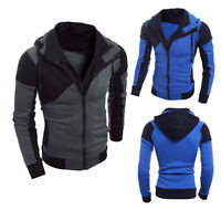 Winter Men's Retro Long Sleeve Hoodie Hooded Sweatshirt Tops Jacket Coat Outwear