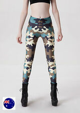 Women Army Military Camouflage Green Camo Party Skinny Leggings Pants Trousers