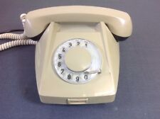 Vintage Desk Phone Made In Czechoslovakia By Tesla Olive Green Corded Phone