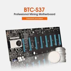 Mining Mainboard DDR3 SATA3.0 mSATA2.0 8xPCIE 16X Graph Card BTC-S37 Motherboard