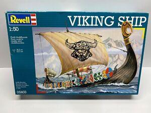 Revell 1:50 Scale Viking Ship Sealed Inside Boxed Model Kit No Reserve