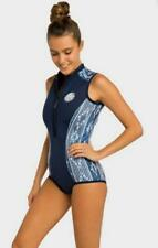 Rip Curl G Bomb S/LESS BIKINI SPRING Womens Springsuit Wetsuit WSP7MW Blue White
