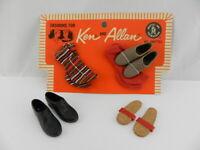 Vintage Barbie KEN Best Foot Forward 1801 Parital Pack Socks Shoes Lot