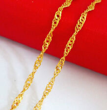 18K placcato in oro giallo collana catena d'onda 44CMS