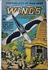 WINGS #48 VG/FN 5.0 FICTION HOUSE 8/1944