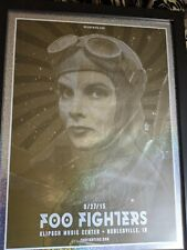Very Rare Foo Fighters Nobelsville Indiana Foil Concert Poster Signed By.
