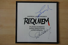 "Lorin Maazel & Placido Domingo Autogramme signed LP-Cover ""Requiem"" Vinyl"