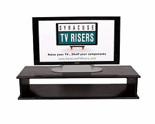 "Black XX-Large Double Top TV Riser 44""widex16 deep x8 3/4"" high-syracusetvrisers"