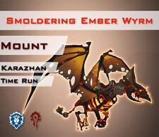 [EU] Smoldering Ember Wyrm Nightbane Mount WoW Karazhan Glimmender Glutwyrm