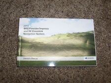 2014 Subaru BRZ Forester Impreza XV Crosstrek Navigation Owner Operator Manual