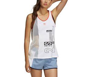 adidas Originals Women's Active Icons OG Mesh Vest Top Sleeveless Gym Sport Tank