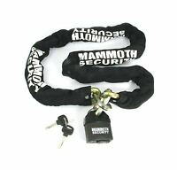 Bikeit Mammoth Motorcycle Bike 12mm Hexagon Security Lock and Chain 1.8m