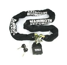 Bikeit Mammoth Motorcycle Bike 12mm Hexagon Security Lock and Chain 1.8m