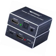 Tendak 4K HDMI Audio Extractor Convertidor HDMI a HDMI con óptico Toslink spdif