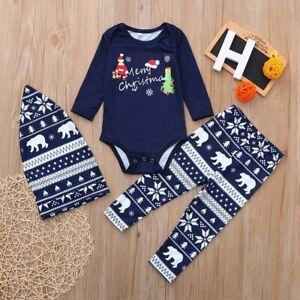 Christmas Family Dad Mom Kids Pyjamas PJS Xmas Santa Sleepwear Nightwear Jumper