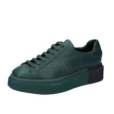 womens shoes MANUEL BARCELO 6 (EU 39) sneakers green leather BS329-39