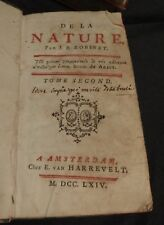 ROBINET - De la Nature - Tome second - 1764 - Rare