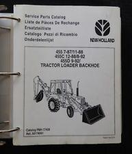 1987-96 FORD 455 455C 455D TRACTOR LOADER BACKHOE PARTS MANUAL CATALOG IN BINDER