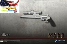 ZY2009C 1/6 Scale Pistol Weapon SILVER Gun M500 Magnum 12'' Figure hot toy❶USA❶