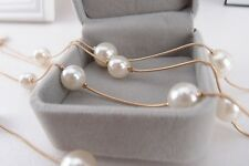 Fashion Women Multi layer Long Pearl Necklace Pendant Sweater Chain Jewelry Gift