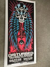 Disturbed Limited Edition Gig poster Martin EngineHouse13  Florida 2009