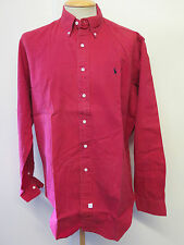 "Ralph Lauren POLO men's Red Long Sleeve Casual Shirt Size L 42-46"" Euro 52-54"