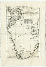 Antique Map-SOUTH AFRICA-ANGOLA-ZAIRE-CONGO-TRANSVAAL-LOANGO-Bonne-1780