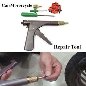 Motorcycle Tire Plugger Tubeless Tyre Wheel Repair Gun Kit With Plug Rubber Plug