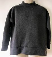 New Look Size 10 Long Sleeve Jumper Grey High Neck Oversized - Autumn/Winter