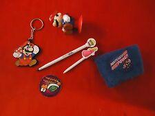 Nintendo Mix Lot Pog Mario Wristband Keychain Mario 3 Figure Princess DS Stylus