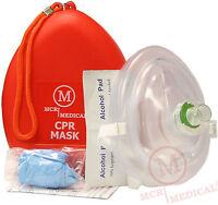 Pack of 5 Adult/Child Size CPR Pocket Rescue Masks, MCR Medical CPR Face-Mask