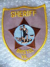 Patch- Sheriff Bristol VA US Police Patch (NEW*)