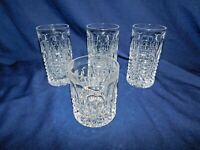I2 - Gorham Crystal Fairfax High Ball 3 + 1 Double Old Fashion Bar Glasses