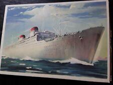 Cartolina nave grande ITALIA soc. Navigazione genova