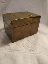 Du Vonn Collection Rare Brass Trinket Box/Hand-Crafted/El Monte California