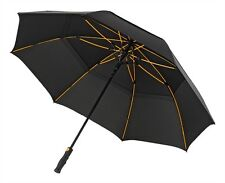 Large Premium Golf Umbrella Automatic Windproof Wind Vented Canopy - Storm Black