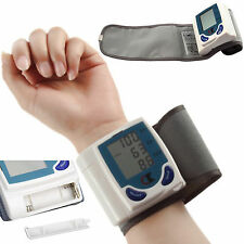 Digital Automatic Wrist Watch Blood Pressure Heart Health Monitor Home Test Band