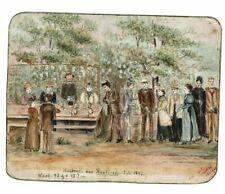 Historische Malerei 1893 Kränzchen Hautirode Mathilde Mitgau Kränzchen Mode