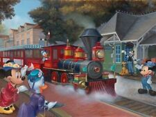 "Maggie Parr ""Magic Kingdom Train"" Print - (aka ""Heading West"") Disney Parks"