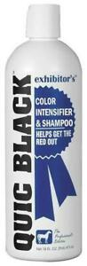 Exhibitor's Quic Black Color Intensifier and Horse Shampoo, 16 Ounces
