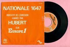 DISQUE : NATIONALE 1647 - EMISSION ANIMEE PAR HUBERT sur EUROPE 1 -