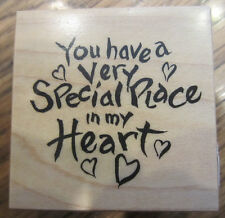 Psx  You Have A Very Special Place In My Heart E-2423 Wood Mount Rubber Stamp