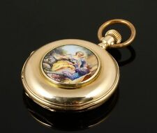 Antique Favre Freres Swiss a 14K Solid Gold Pocket Watch. Marked Brequet 50 mm.